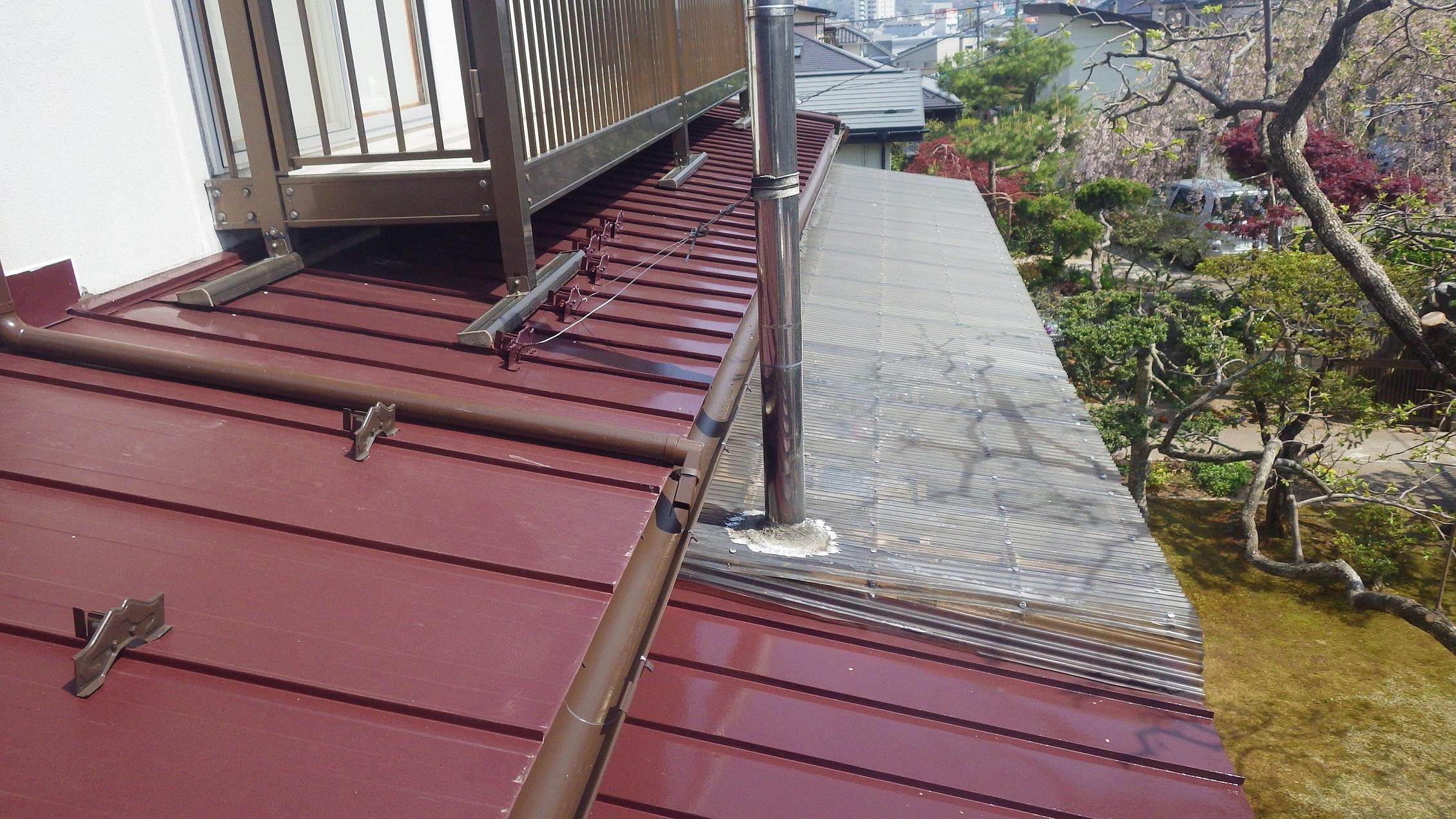 屋根部分塗装
