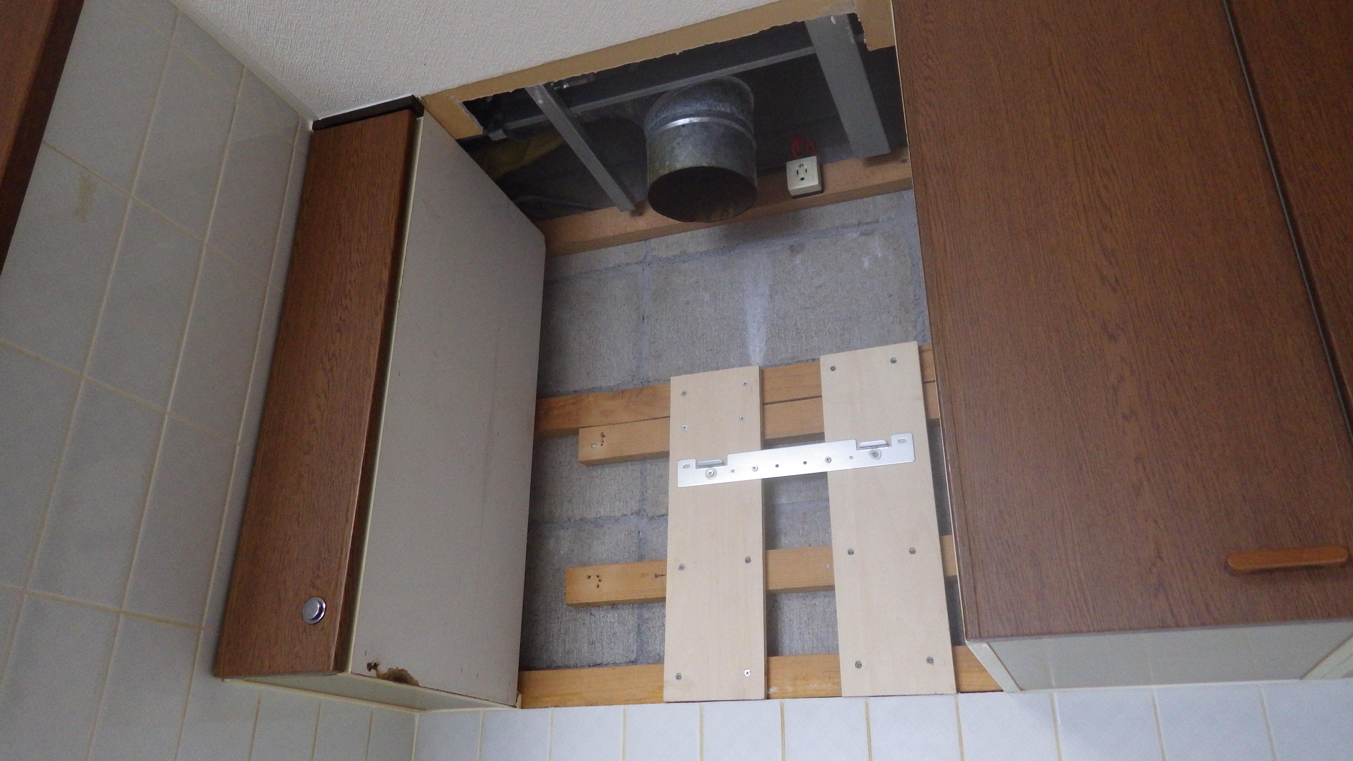 下地木材の設置