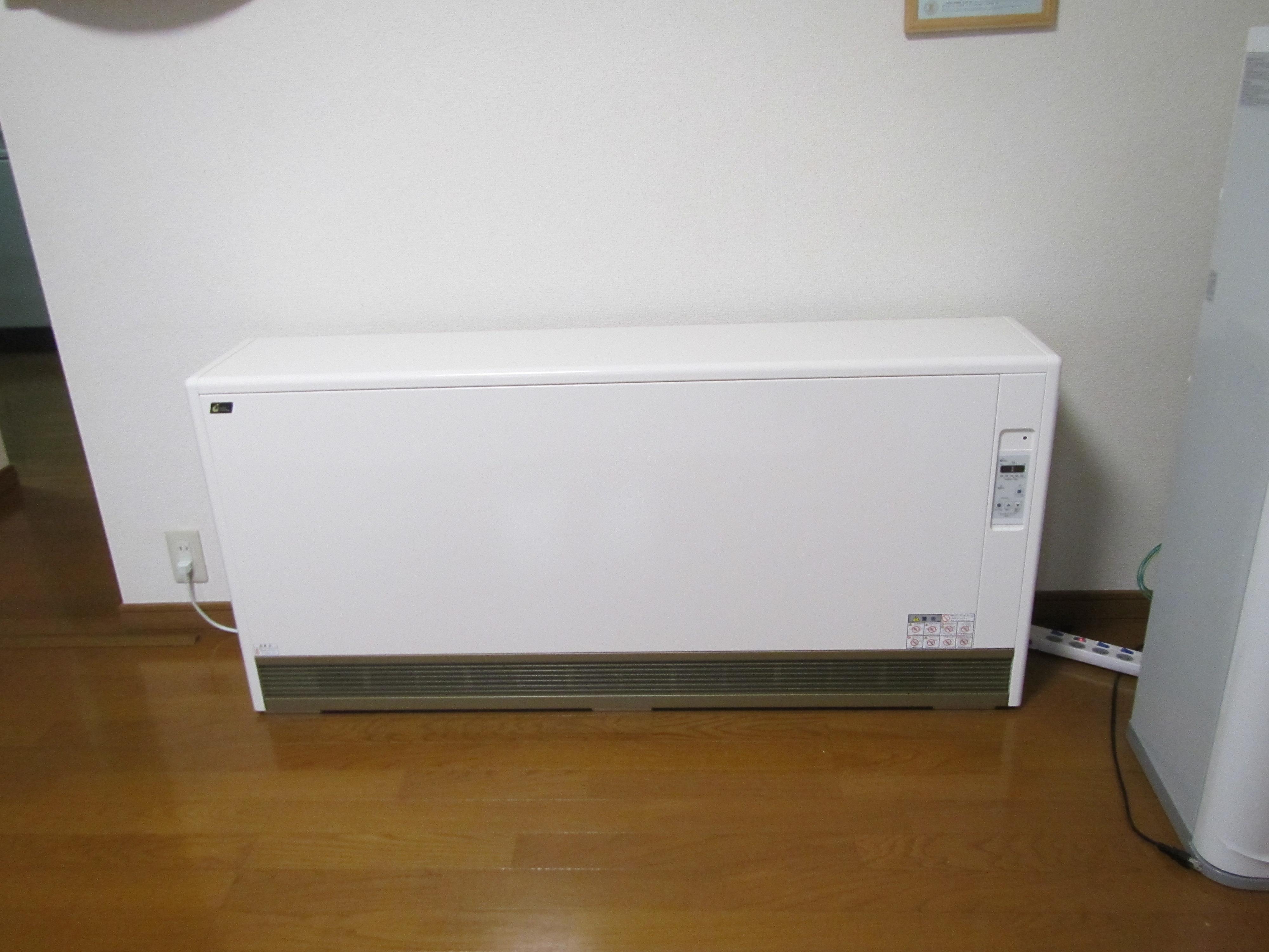 火を使わない蓄熱暖房機設置工事