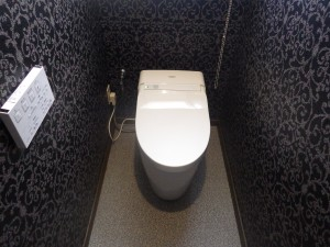 豪華でおしゃれなレストルームに変身!トイレ交換・内装工事