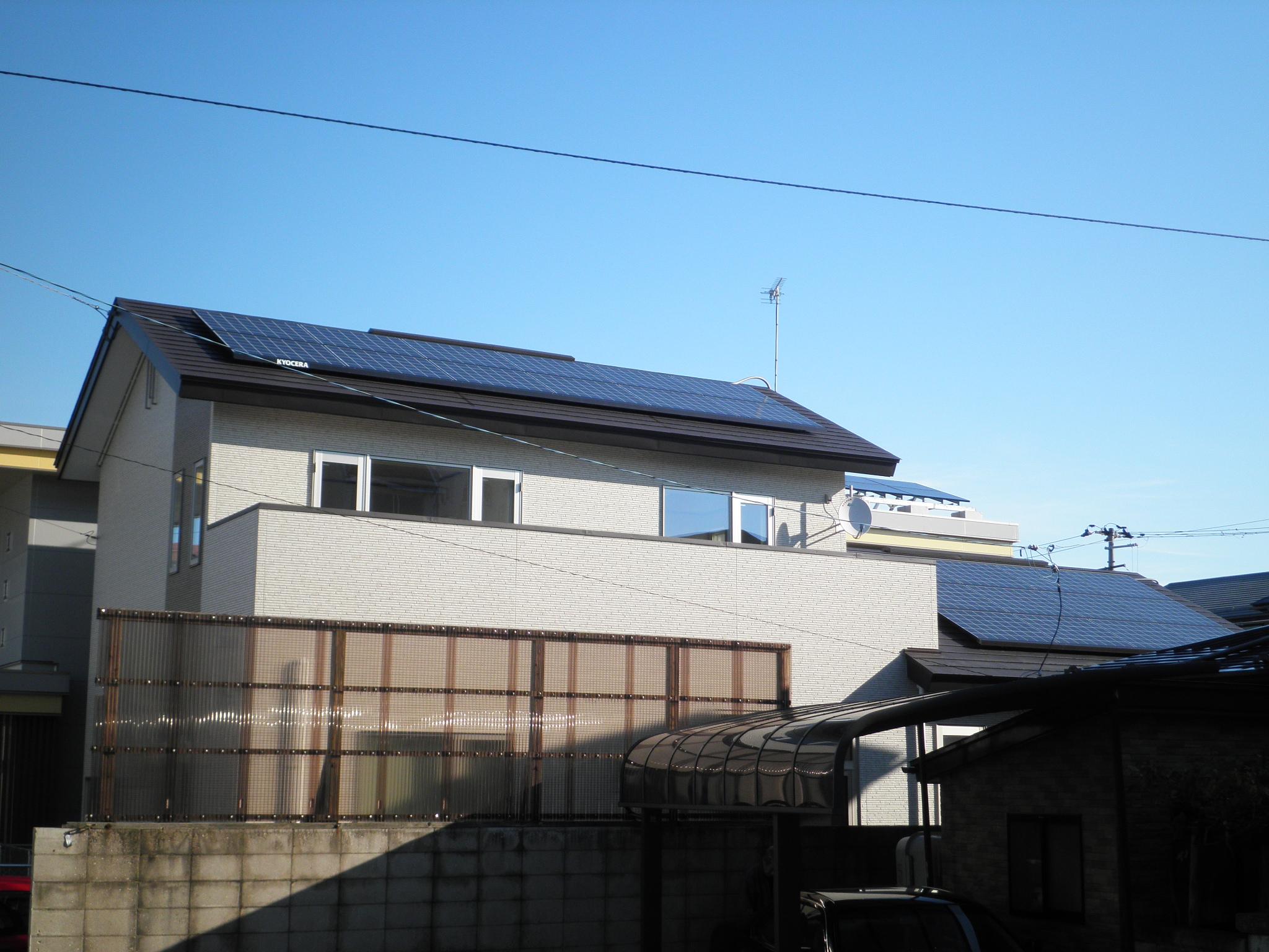 太陽光発電システムで売電できる!節電できる!停電時も安心!