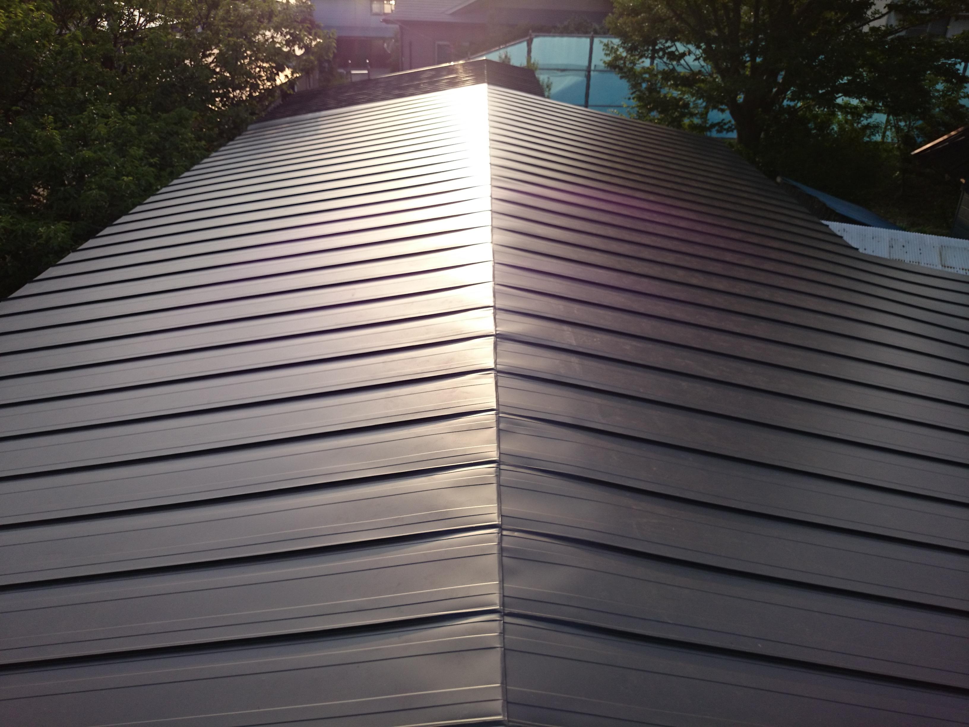 ガルバリウム鋼板 屋根葺き替え